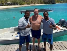 Marco Sodi Swim around Mustique for Covid-19